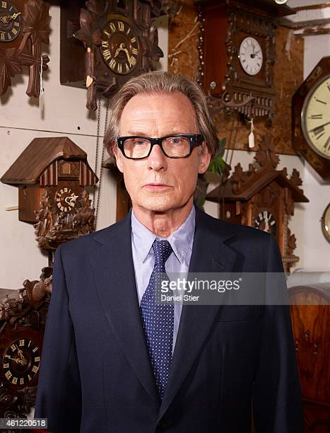 Actor Bill Nighy is photographed for the Telegraph on August 14 2013 in London England
