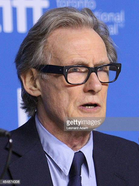 Actor Bill Nighy speaks onstage at Pride Press Conference during the 2014 Toronto International Film Festival at TIFF Bell Lightbox on September 7...