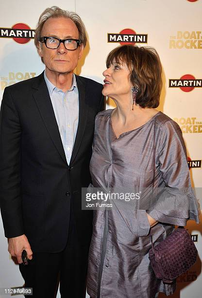 Actor Bill Nighy with his wife Diana Quick attend The Boat That Rocked Martini World Premiere Party at the Louise Blouin Foundation on March 23 2009...