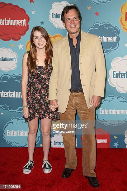 Actor Bill Paxton and daughter arrive at Entertainment Weekly's annual ComicCon celebration at Float at Hard Rock Hotel San Diego on July 20 2013 in...