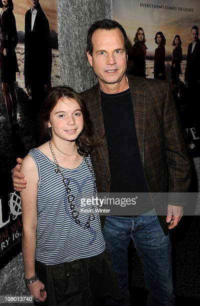 Actor Bill Paxton and daughter Lydia Paxton arrive at HBO's Big Love Season 5 premiere at Directors Guild of America on January 12 2011 in Los...