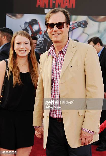 Actor Bill Paxton and daughter Lydia Paxton arrive at the Los Angeles premiere of Marvel Studios 'AntMan' at Dolby Theatre on June 29 2015 in...