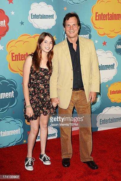 Actor Bill Paxton and daughter Lydia Paxton attend Entertainment Weekly's Annual ComicCon Celebration at Float at Hard Rock Hotel San Diego on July...