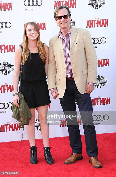 Actor Bill Paxton and his daughter attend the Premiere of Marvel's 'AntMan' at the Dolby Theatre on June 29 2015 in Hollywood California