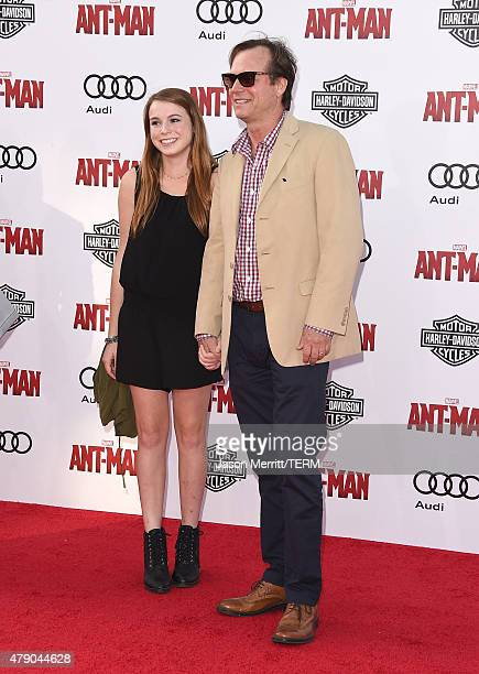 Actor Bill Paxton and his daughter Lydia Paxton arrive at the Los Angeles Premiere of Marvel Studios 'AntMan' at Dolby Theatre on June 29 2015 in...