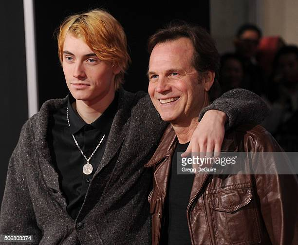 Actor Bill Paxton and son James Paxton arrive at the premiere of Disney's The Finest Hours at TCL Chinese Theatre on January 25 2016 in Hollywood...