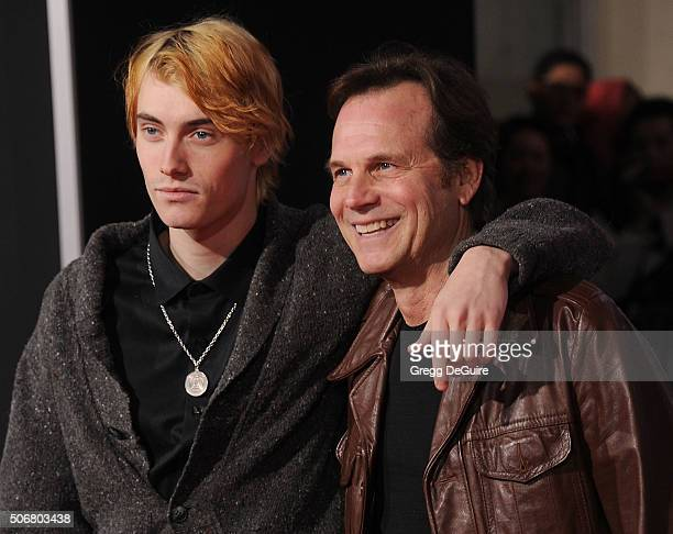 """Actor Bill Paxton and son James Paxton arrive at the premiere of Disney's """"The Finest Hours"""" at TCL Chinese Theatre on January 25, 2016 in Hollywood,..."""