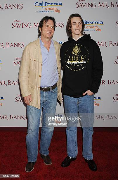 Actor Bill Paxton and son James Paxton arrive at the 'Saving Mr Banks' Los Angeles Premiere at Walt Disney Studios on December 9 2013 in Burbank...
