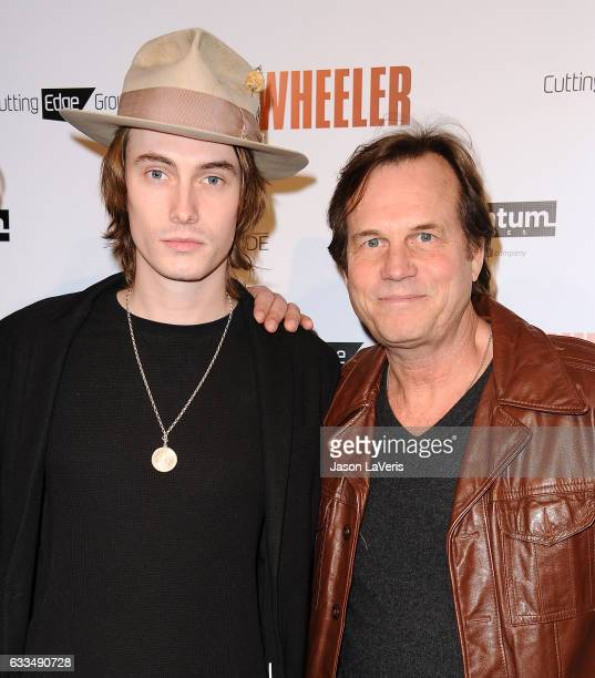 Actor Bill Paxton and son James Paxton attend the premiere of 'Wheeler' at the Vista Theatre on January 30 2017 in Los Angeles California