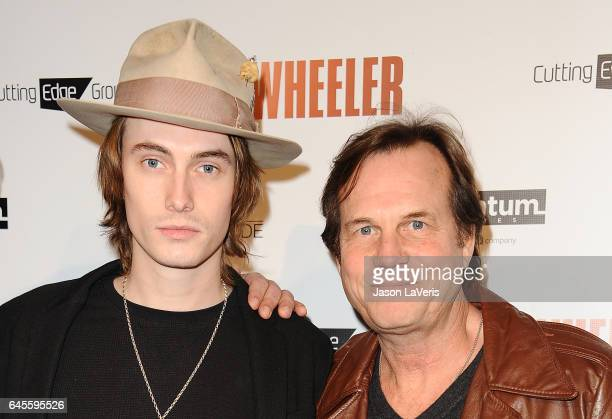 """Actor Bill Paxton and son James Paxton attend the premiere of """"Wheeler"""" at the Vista Theatre on January 30, 2017 in Los Angeles, California."""