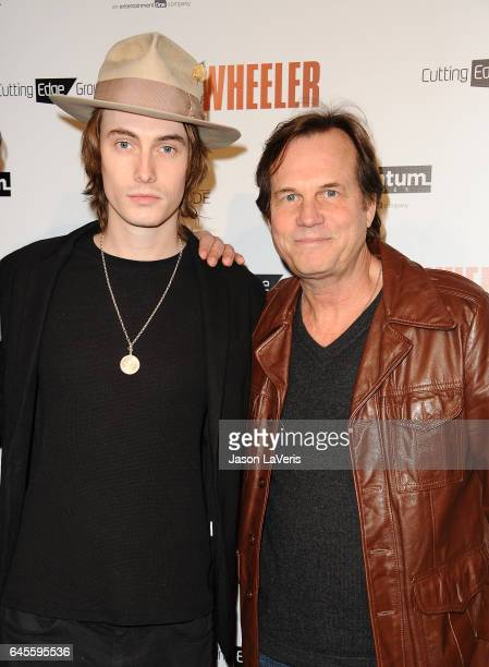 Actor Bill Paxton and son James Paxton attend the premiere of Wheeler at the Vista Theatre on January 30 2017 in Los Angeles California