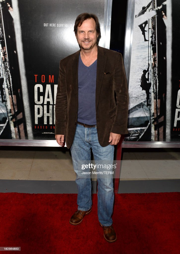 Actor Bill Paxton attends the premiere of Columbia Pictures' 'Captain Phillips' at the Academy of Motion Picture Arts and Sciences on September 30, 2013 in Beverly Hills, California.