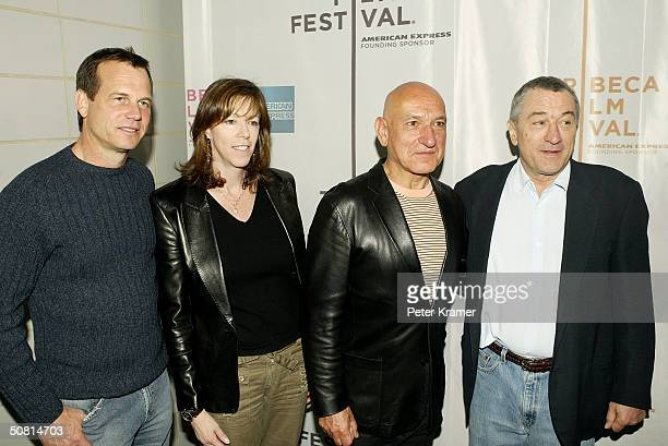 Actor Bill Paxton Tribeca Film Festival CoFounder Jane Rosenthal actor Sir Ben Kingsley and Robert De Niro arrive at the 'Thunderbirds' screening...