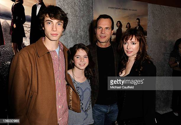 Actor Bill Paxton with wife Louise Paxton children James Paxton and Lydia Paxton arrive at HBO's Big Love Season 5 Premiere held at the Directors...