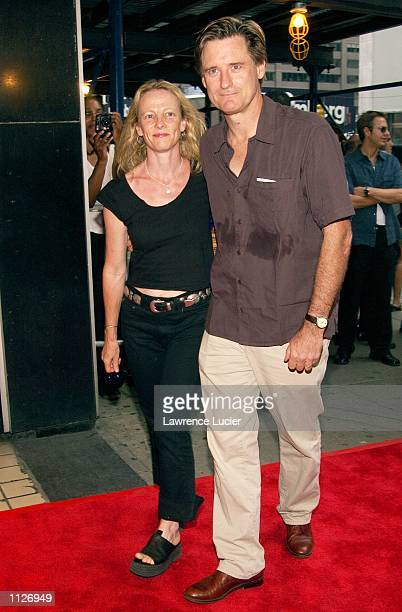 Actor Bill Pullman and his wife Tamara Hurwitz arrives at the premiere of the film Tadpole on July 15 in New York City Miramax films acquired the...