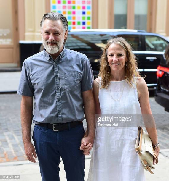 Actor Bill Pullman and Tamara Hurwitz are seen walking in Soho on July 31 2017 in New York City