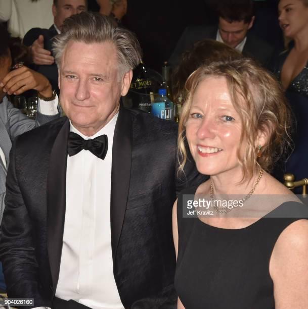 Actor Bill Pullman and Tamara Hurwitz attend The 23rd Annual Critics' Choice Awards at Barker Hangar on January 11 2018 in Santa Monica California