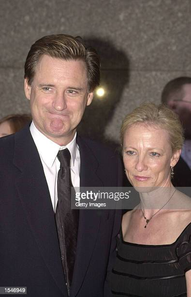 Actor Bill Pullman with his wife Tamara Hurwitz arrive for the 56th Annual Tony Awards at Radio City Music Hall June 2 2002 in New York City The Tony...