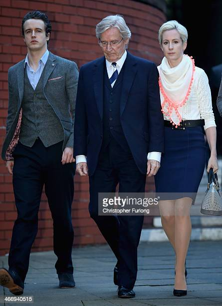 Actor Bill Roache leaves Preston Crown Court with his son James Roache and daughter Verity Roache as he faces trial over historical sexual offence...