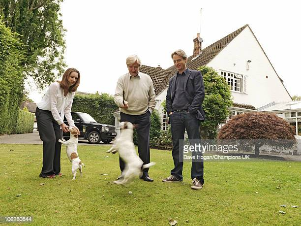Actor Bill Roache with his children Linus and Verity pose for a portrait shoot at the actor's home in Wilmslow on July 12 2010