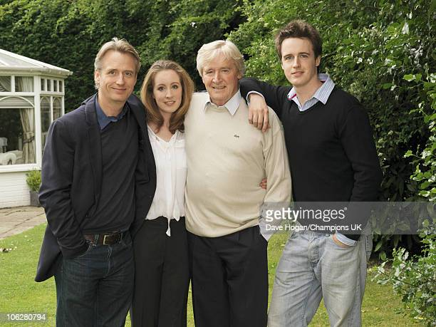 Actor Bill Roache with his children Linus Verity and James pose for a portrait shoot at the actor's home in Wilmslow on July 12 2010