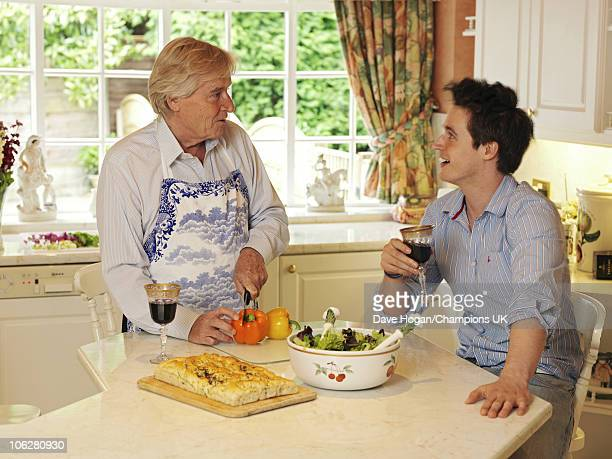 Actor Bill Roache with his son James pose for a portrait shoot at the actor's home in Wilmslow on July 12 2010