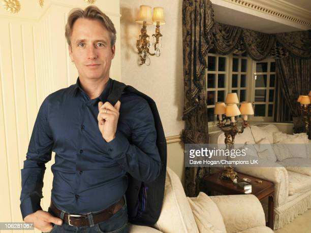 Actor Bill Roache's son Linus Roache poses for a portrait shoot at the actor's home in Wilmslow on July 12 2010