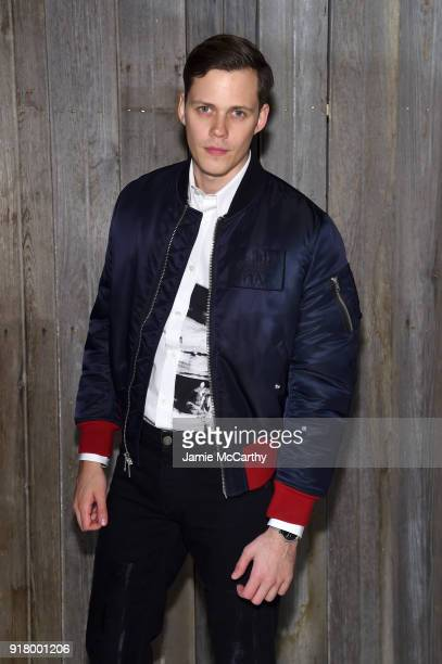 Actor Bill Skarsgard attends the Calvin Klein Collection during New York Fashion Week at New York Stock Exchange on February 13 2018 in New York City