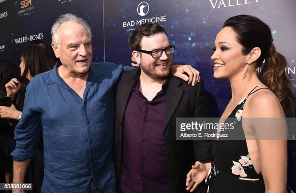 Actor Bill Smitrovich director Dan Glaser and actress Autumn Reeser attend the world premiere of 'Valley Of Bones' at ArcLight Hollywood on August 24...