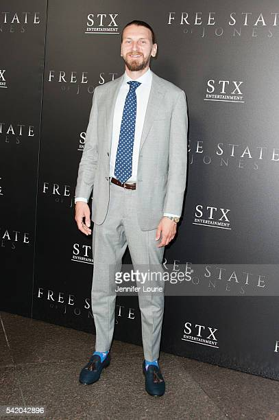 Actor Bill Tangradi arrives at the Premiere of STX Entertainment's Free State Of Jones at the DGA Theater on June 21 2016 in Los Angeles California