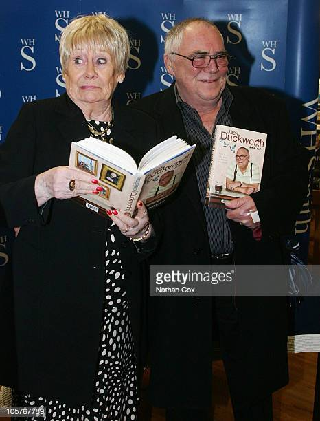 Actor Bill Tarmey who has played character Jack Duckworth in ITV soap 'Coronation Street' since 1979 is joined by actress Liz Dawn who played the...