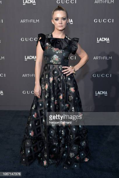 Actor Billie Lourd attends 2018 LACMA Art Film Gala honoring Catherine Opie and Guillermo del Toro presented by Gucci at LACMA on November 3 2018 in...