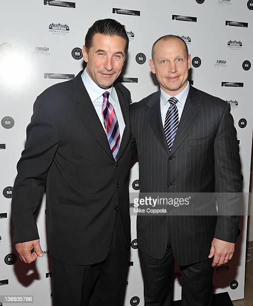 Actor Billy Baldwin and former professional hockey player Adam Graves attend the 2012 A Midwinter Night's Dream Gala at Oheka Castle on January 12...