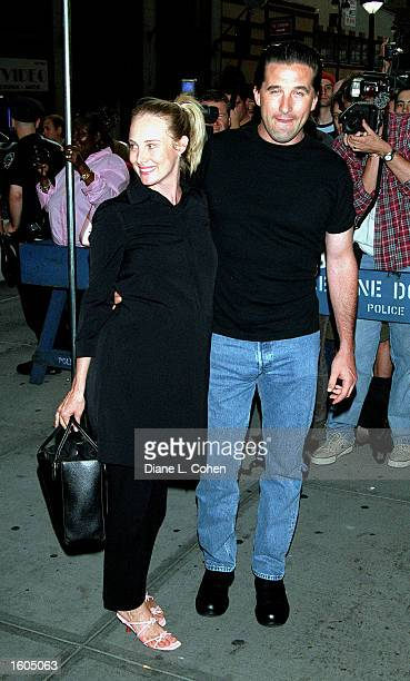 Actor Billy Baldwin and wife Chyna Phillips attend Madonna's Concert July 26 2001 at Madison Square Garden