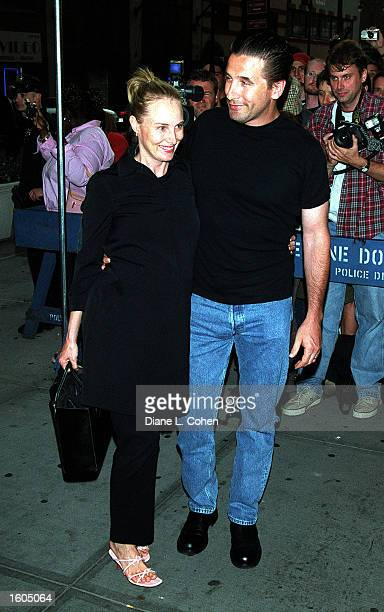 Actor Billy Baldwin and wife Chynna Phillips attend Madonna's Concert July 26 2001 at Madison Square Garden