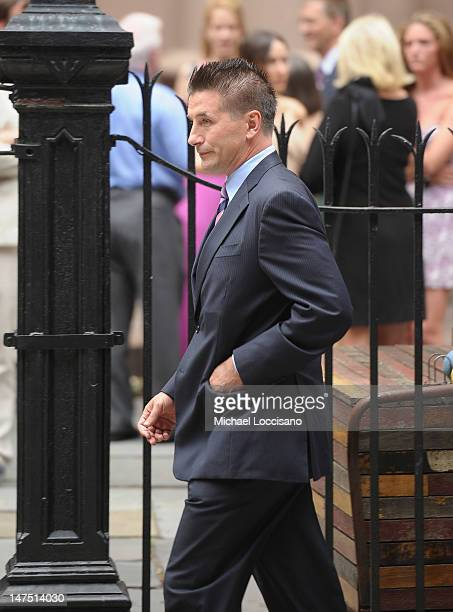 Actor Billy Baldwin attends his brother Alec Baldwin and Hilaria Thomas' wedding ceremony at St Patrick's Old Cathedral on June 30 2012 in New York...