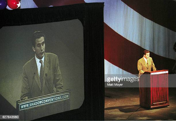 Actor Billy Baldwin of The Creative Coalition speaks at the Shadow Convention 2000 held in the Annenberg Center at the University of Pennsylvania...