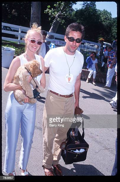 Actor Billy Baldwin poses with wife and musician Chynna Phillips at the Pediatric AIDS Foundation Fundaiser June 9 1996 in Los Angeles CA The...