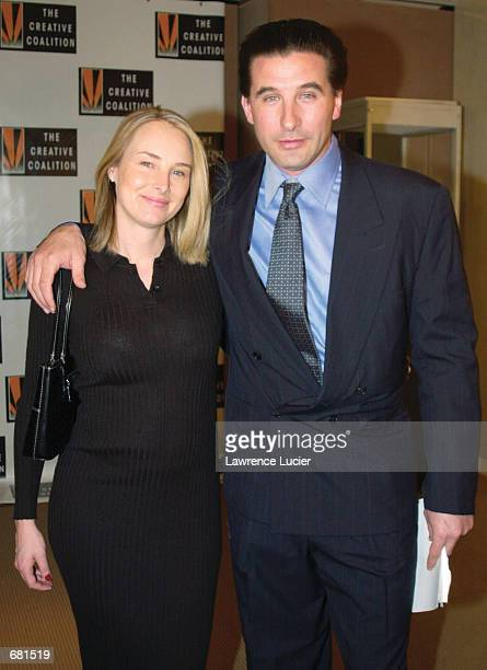 Actor Billy Baldwin president of the Creative Coalition and his wife Chynna Philips arrive at the Creative Coalition 2001 Spotlight Awards November...