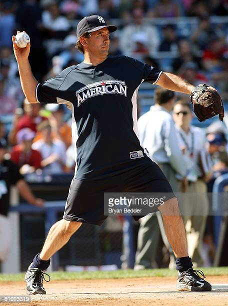 Actor Billy Baldwin takes part in the 2008 MLB AllStar Week Taco Bell AllStar Legends Celebrity Softball Game at Yankee Stadium on July 13 2008 in...
