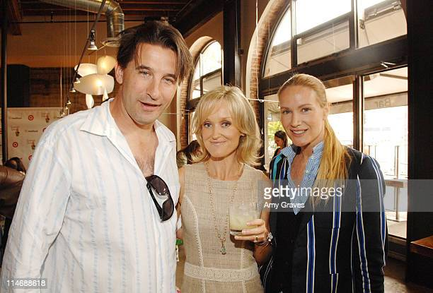 Actor Billy Baldwin writer Sophie Uliano and actress Kelly Lynch attend the Sophie Uliano Gorgeously Green Book Launch Party at Akasha Restaurant on...