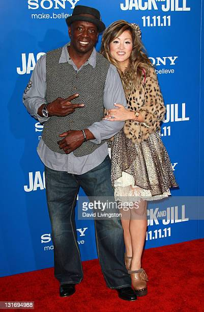 Actor Billy Blanks and wife Tomoko Sato attend the premiere of Columbia Pictures' Jack And Jill at the Regency Village Theatre on November 6 2011 in...