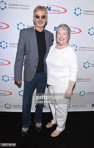 Actor Billy Bob Thornton and actress Kathy Bates attend Academy AwardWinner Kathy Bates Hosts Reception On Eve Of California Walk To Fight Lymphedema...
