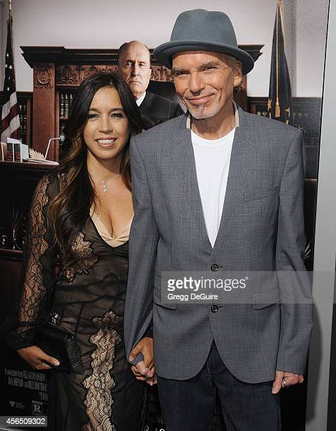 Actor Billy Bob Thornton and Connie Angland arrive at the Los Angeles premiere of The Judge at AMPAS Samuel Goldwyn Theater on October 1 2014 in...