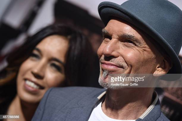 Actor Billy Bob Thornton and Connie Angland arrive at the Los Angeles Premiere of 'The Judge' at AMPAS Samuel Goldwyn Theater on October 1 2014 in...
