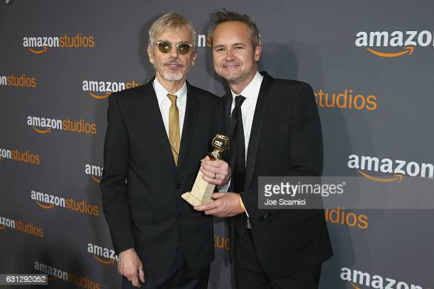 Actor Billy Bob Thornton and Head of Amazon Studios Roy Price attend Amazon Studios Golden Globes Celebration at The Beverly Hilton Hotel on January...