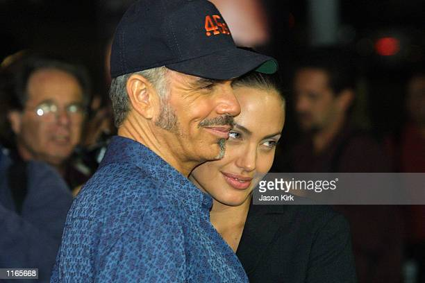 Actor Billy Bob Thornton and his wife actress Angelina Jolie arrive at the world premiere of 'Bandits' October 4 2001 in Westwood CA