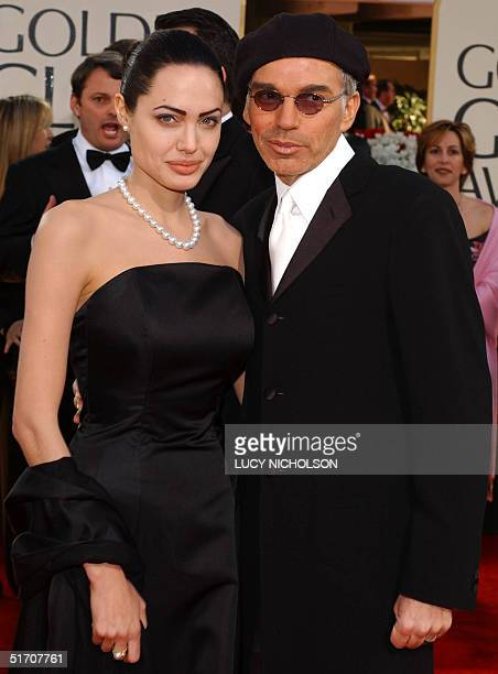 US actor Billy Bob Thornton and his wife actress Angelina Jolie arrive at the 59th Annual Golden Globe Awards in Beverly Hills 20 January 2002...