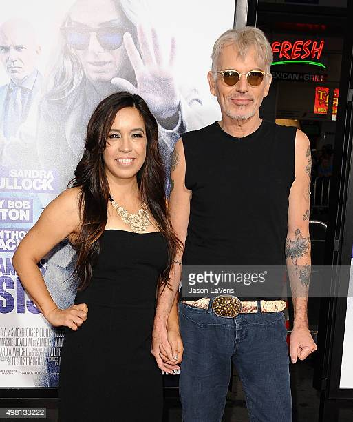 Actor Billy Bob Thornton and wife Connie Angland attend the premiere of Our Brand Is Crisis at TCL Chinese Theatre on October 26 2015 in Hollywood...