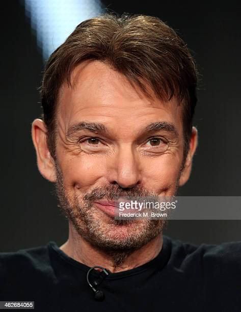 Actor Billy Bob Thornton of the television show 'Fargo' speaks onstage during the FX portion of the 2014 Television Critics Association Press Tour at...